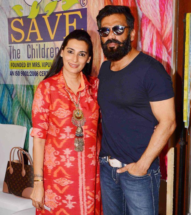 sunil shetty wife Mana Shetty image