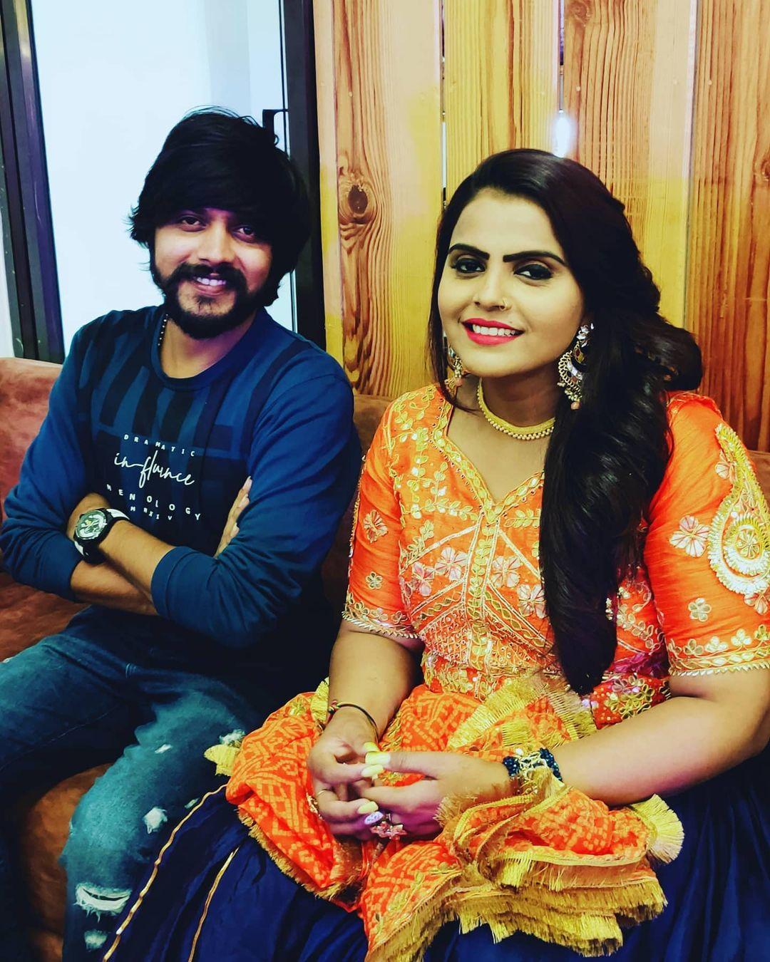 Yuvraj Suvada and Kajal Maheriya