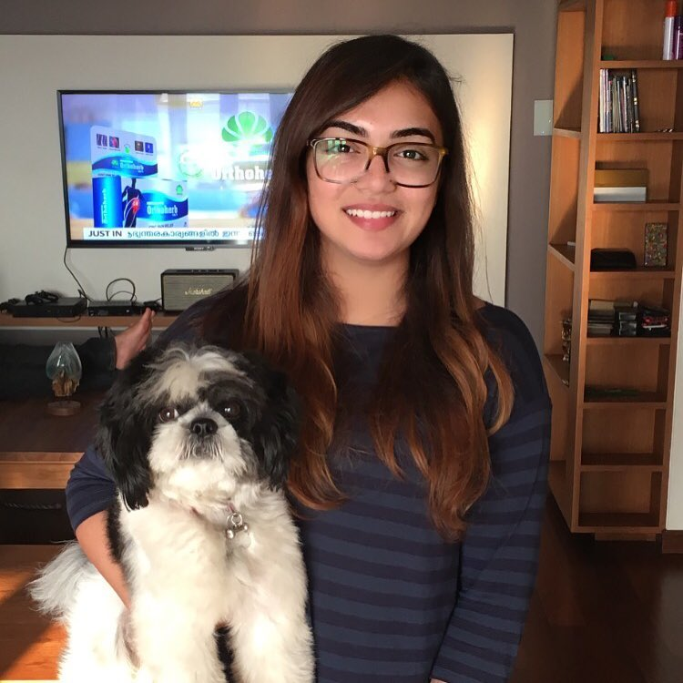 Nazriya Nazim WIth Cute Dogy