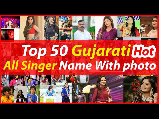 Gujarati Singer List With Name And Photos And All Information