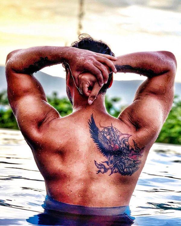 Yash Dasgupta's Tattoo on his back
