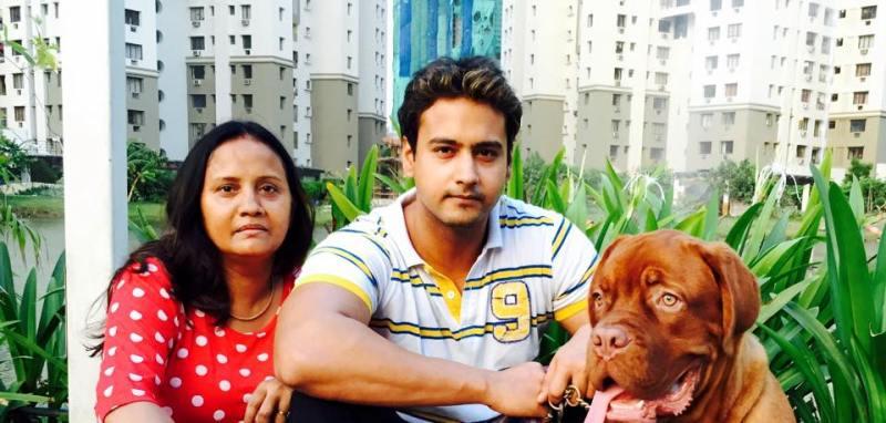 Yash Dasgupta with his Mother