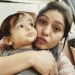 Sunidhi Chauhan with her son Tegh Sonik