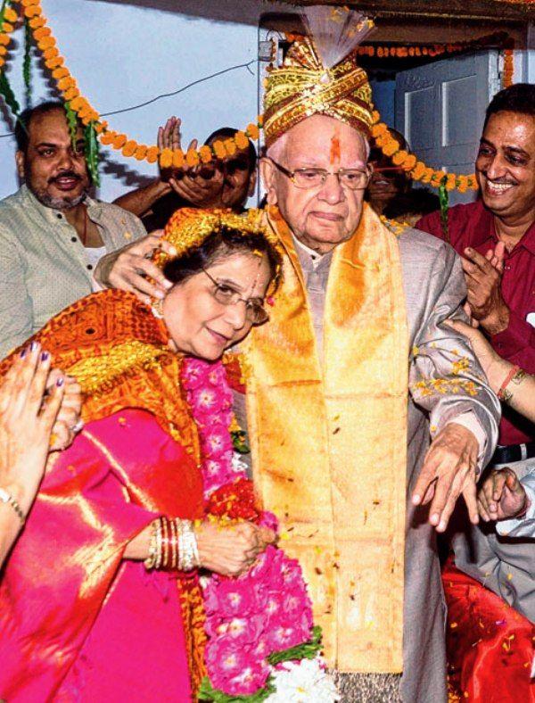Rohit Shekhar Tiwari's mother Ujjwala Sharma and father N. D. Tiwari's marriage