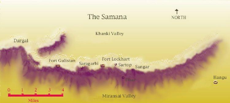 मानचित्र पर सारागढ़ी