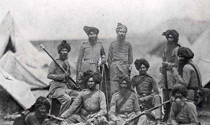 36वीं सिख रेजीमेंट के सैनिक