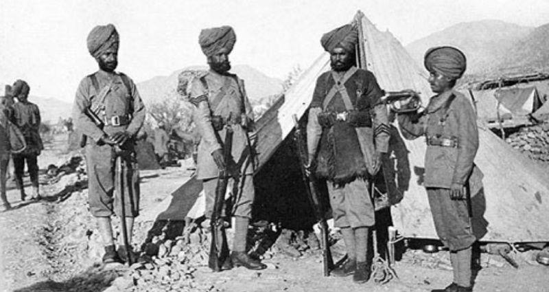 1896 में 36वीं सिख रेजीमेंट के सैनिक