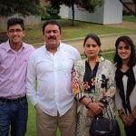 Neena Bundhel with her husband and children