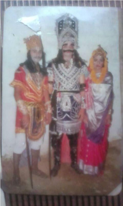 Abhinandan Pathak Playing Raavan In Ramlila
