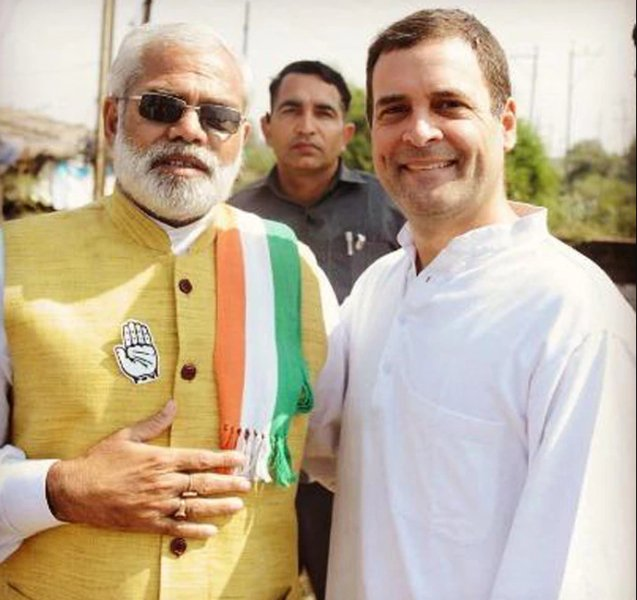 Abhinandan Pathak With Rahul Gandhi