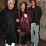Farhan Akhtar With His parents