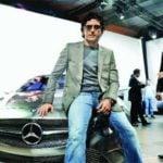 Farhan Akhtar In His Car M350 CDI SUV