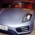 Farhan Akhtar In His Car Porsche
