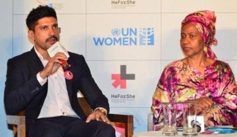 संयुक्त राष्ट्र महिला सद्भावना कार्यक्रम में फरहान अख्तर