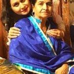 Neena Bundhel with her mother