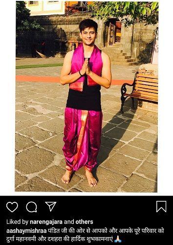 Aashay Mishra's Instagram Post