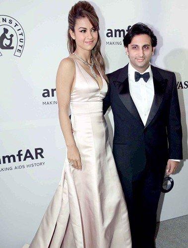 Adar Poonawalla with his wife, Natasha Poonawalla