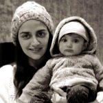 Ahana Deol with her son Darien Vora