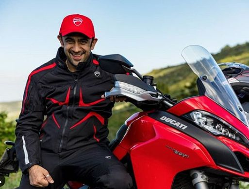 Amit Sadh with his bike