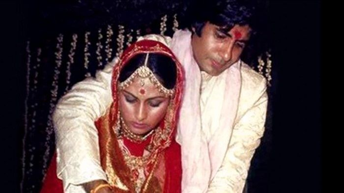 Amitabh Bachchan and Jaya at the time of their marriage