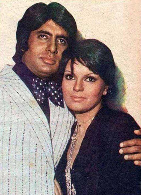 Amitabh Bachchan with Parveen Babi