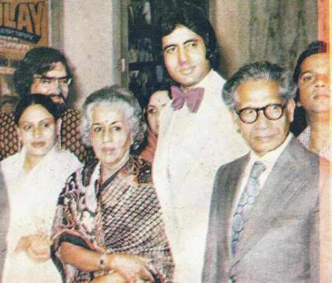Amitabh Bachchan with his parents