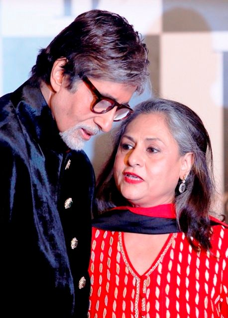 Amitabh Bachchan with his wife