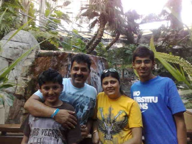 An Old Picture of Mridul Madhok With His Family