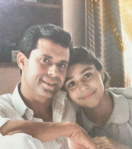 Anaita Shroff Adjania with her father