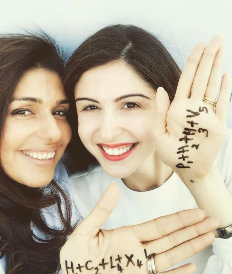 Anaita Shroff Adjania with her sister