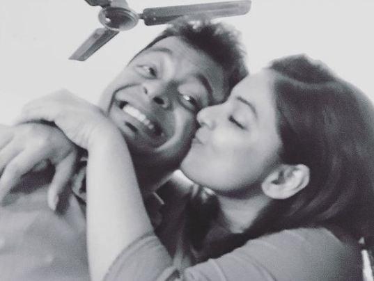 Ankita Shrivastav with her brother
