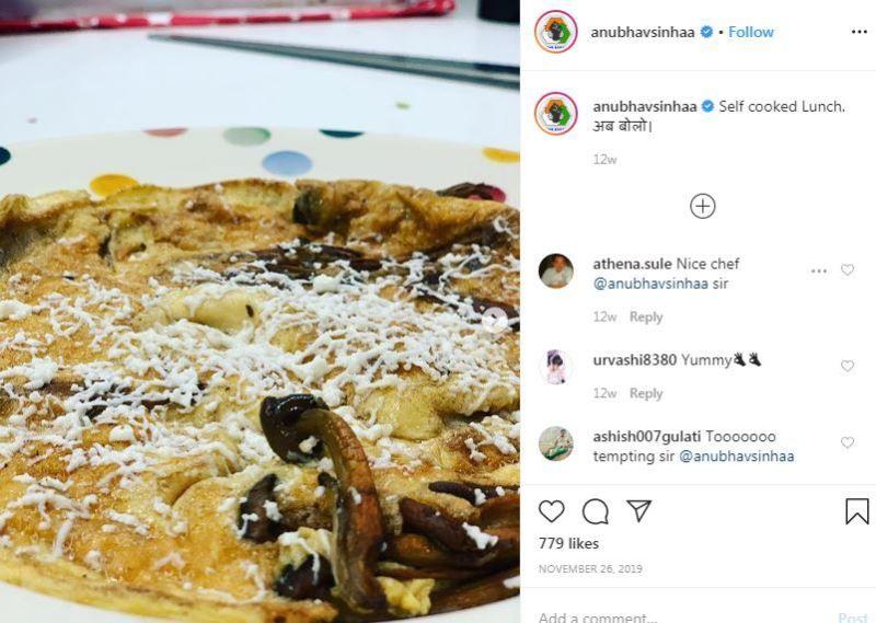 अनुभव सिन्हा ने अपने खाना पकाने के कौशल के बारे में इंस्टाग्राम पोस्ट किया