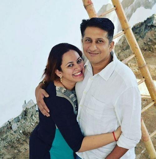 Archana Chandhoke With Her Husband