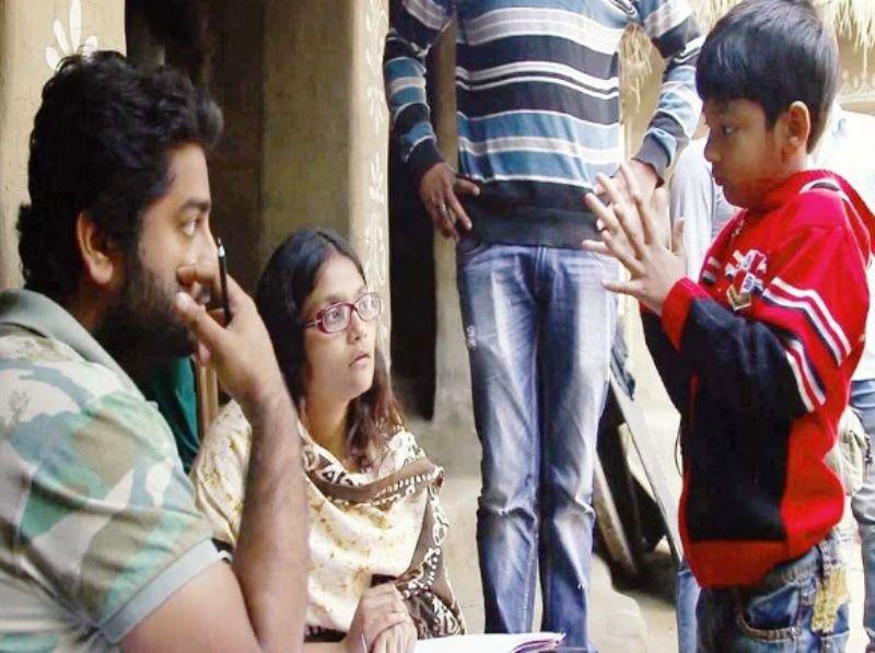 अरिजीत सिंह अपने बेटे जूल के साथ सास के सेट पर