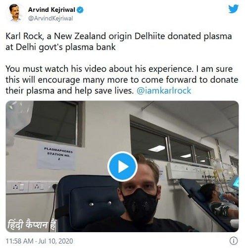 कार्ल रॉक के बारे में अरविंद केजरीवाल का ट्वीट