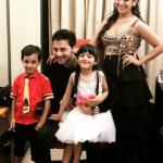 Ashita Dhawan with husband and children