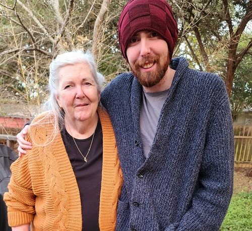 Asmongold with his mother