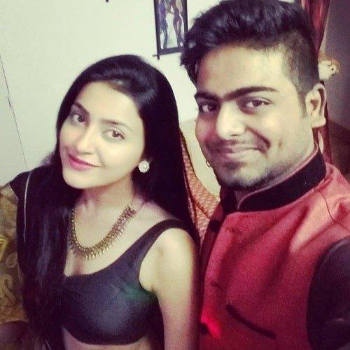 Avantika Mishra with her brother