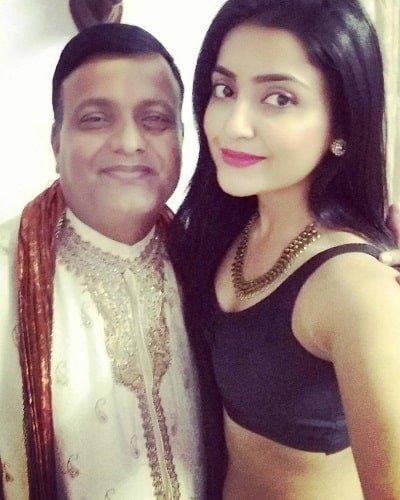 Avantika Mishra with her father