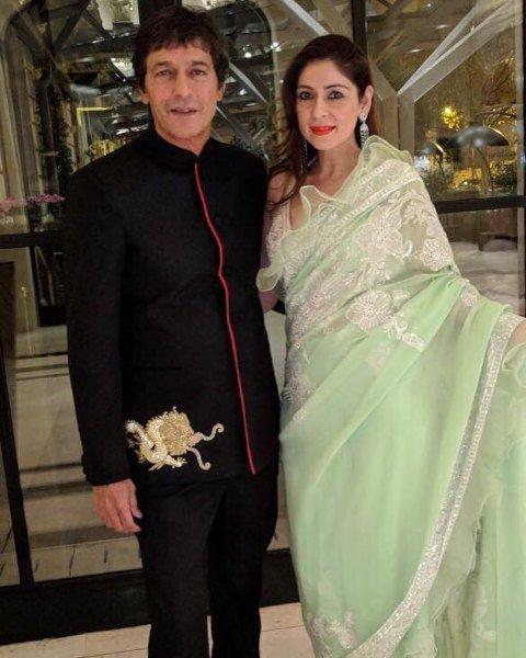 Bhavana Pandey with her husband, Chunky Panday