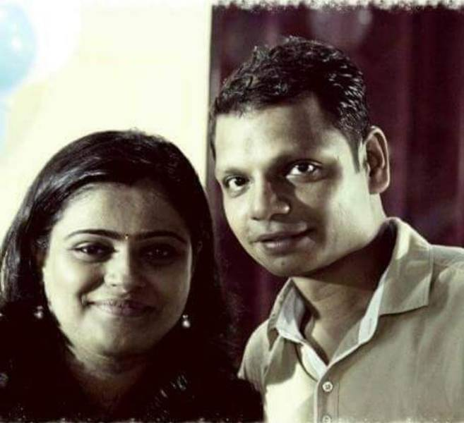 Bhushan Kadu with his wife, Kadambari Kadu