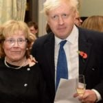Boris Johnson with his mother