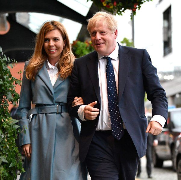 Boris Johnson with his wife, Carrie Symonds