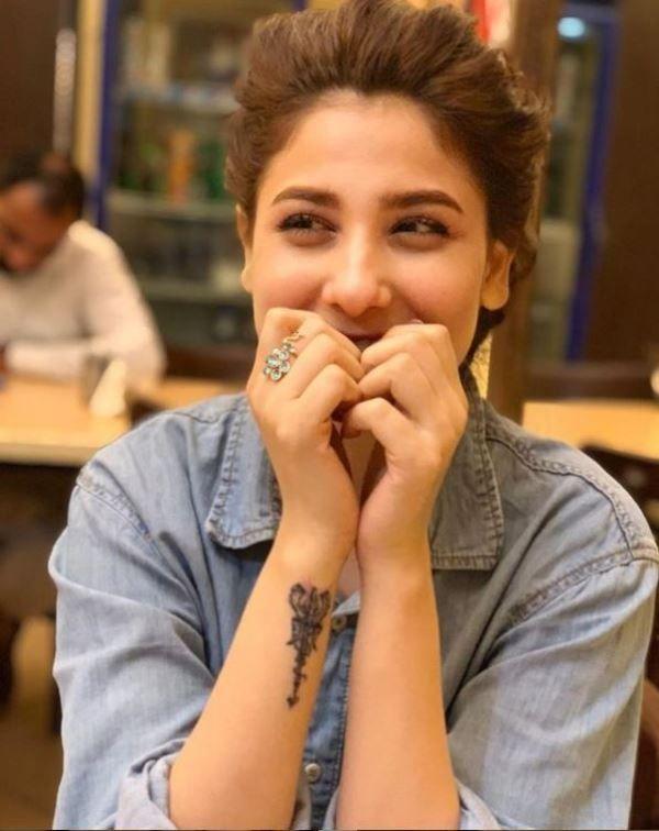 Hina Altaf tattoo