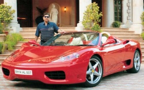 Cyrus Poonawalla with his Ferrari F360 Spyder
