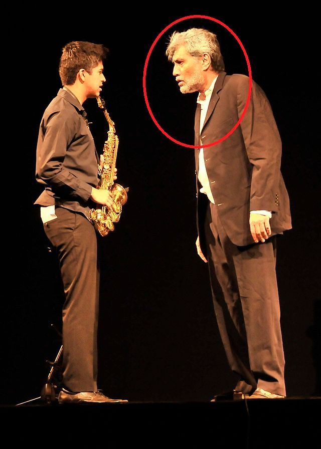 Denzil Smith during a play