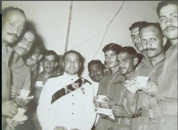 Dhan Singh Thapa with his battalion