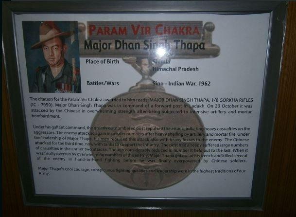 Dhan Singh's citatation for Param Veer Chakra