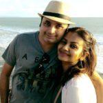 Disha Savla with her husband
