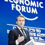विश्व आर्थिक मंच में इमैनुएल मैक्रों Mac